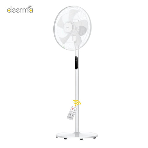 Deerma DEM - FSY70 Floor Fan with Remote Control and DC Frequency Conversion WHITE / CHINESE PLUG (2-PIN)