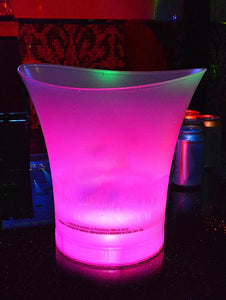 5L KTV Illuminated LED Plastic Ice Bucket