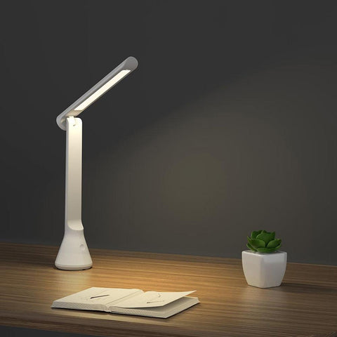 Portable 3 Step Dimmer Folding Small Table Lamp ( YEELIGHT YLTD11YL - Xiaomi Ecosystem Product, USB Charging, 40 hr Back Up)