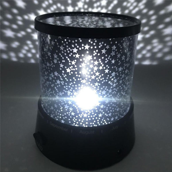 Fantasy Romantic Lamp Starry Sky Rotating Star Projector Night Light