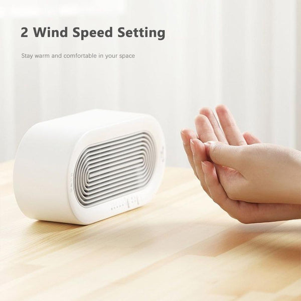 Deerma NF03 Electric Space Heater Fan with Two Heat Settings for Home/ Dormitory/ Office/ Desktop