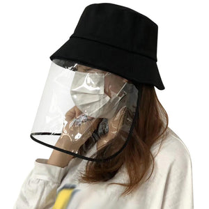 Anti-saliva Transparent Protective Hat Face Cover Mask