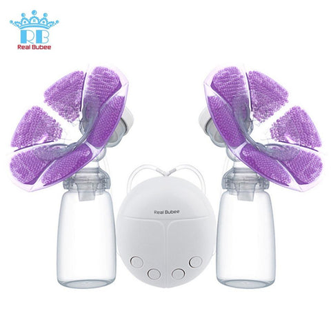 Intelligent Double Breast Pump with Milk Bottle Cold Heat Pad
