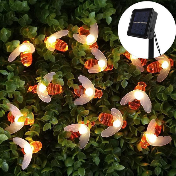 Solar Powered Cute Honey Bee Ladybug Led String Light-Decorative Solar String Light-[variant_title]-Khadiza Electricals