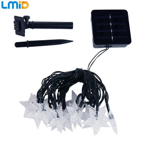 19.68ft 30LEDs Waterproof Outdoor Solar Star LED Fairy String Light For Garden Decoration