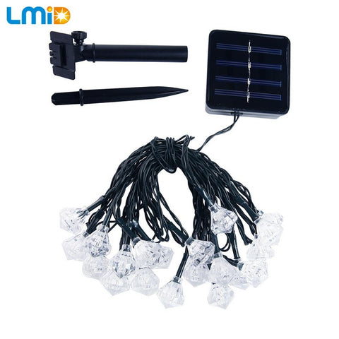 19.68ft 30LEDs Solar Powered Outdoor LED Fairy String Light With Motion Sensor