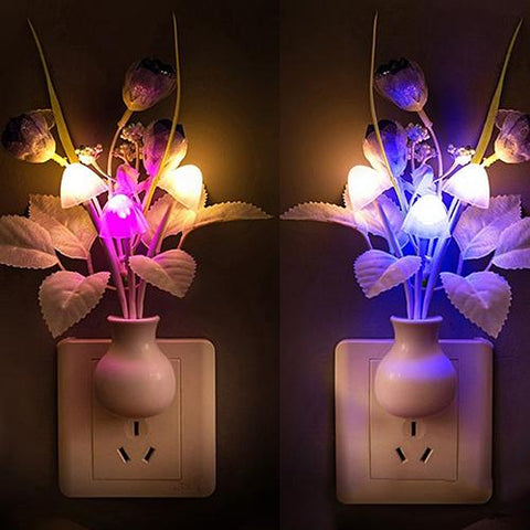 Tulip-Mushroom LED Colorful Night Lamp for Light-Sensational Decor