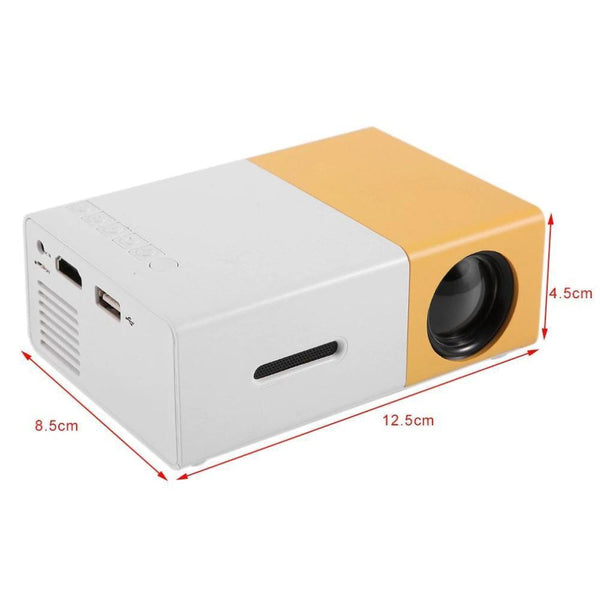 Pocket LED Projector (600 lumen, 3.5mm Audio, 320x240 Pixels, HDMI/USB)-Other Electrical Products-China / AU Plug-Khadiza Electricals