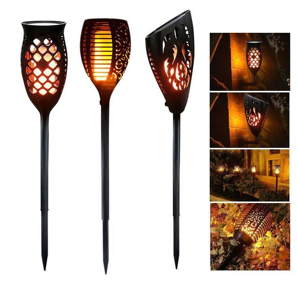 Waterproof Solar Powered LED Flame Light with Sensor for Outdoor Garden Garland Decoration-Solar Light-[variant_title]-Khadiza Electricals