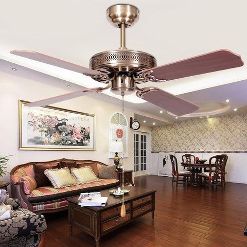 Antique design Silent Wood Blade Ceiling Fan (Durable, Shockproof)