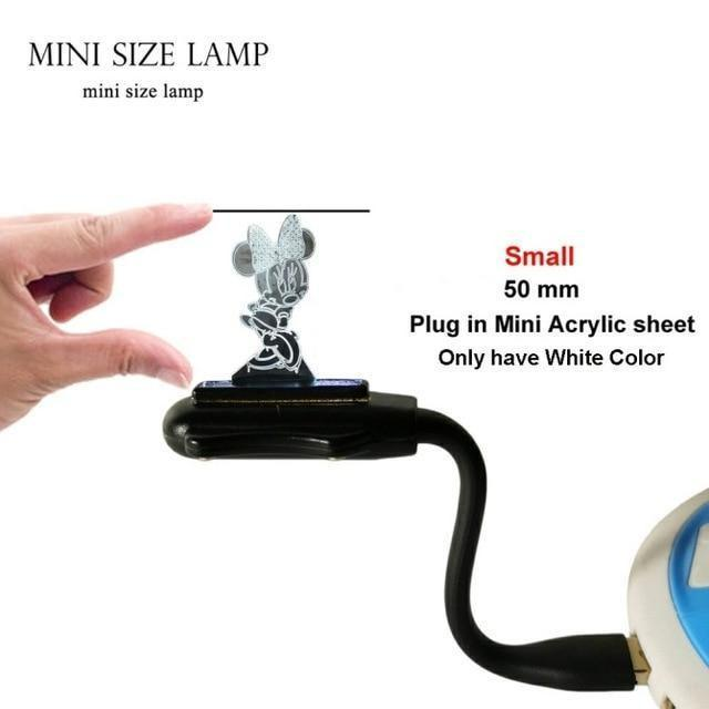3D Minnie LED Night Light (7 Color Changing, USB Powered) Mine Size USB Lamp / China