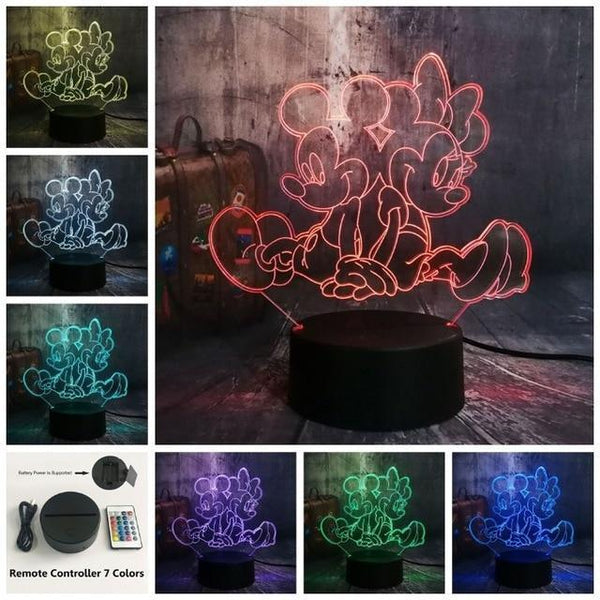 3D Minnie LED Night Light (7 Color Changing, USB Powered) Controller 7 Color20 / China21