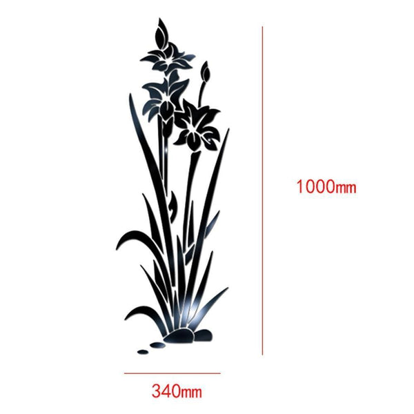 Lotus Flower Removable Mirror Wall Sticker for Home Decor (DIY)-Non Electric Home Decor-[variant_title]-Khadiza Electricals