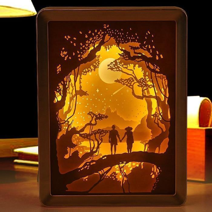 Paper Carved Engraved 3D Shadow Night Lamp-Decorative Night Lamp-Default title 0-Khadiza Electricals