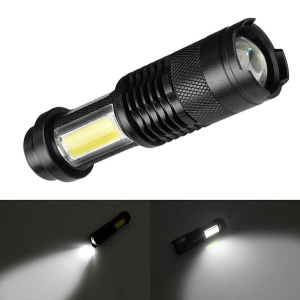 Waterproof  Zoom able Mini Pen like LED Flashlight (4 Modes, 4000LM, 14500 battery)-Flashlight/ Torch-[variant_title]-Khadiza Electricals