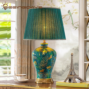 Retro Mayur Color Ceramic Table Lamp