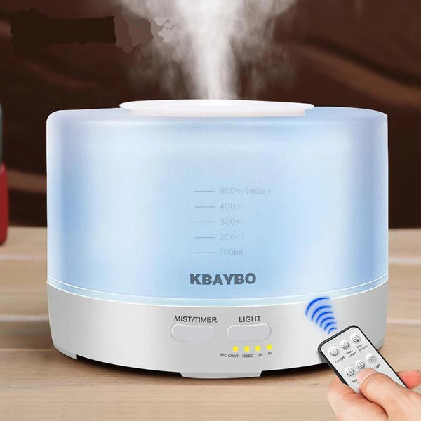 Ultrasonic Air Aroma Humidifier With 7 Color LED Lights (500ml, Remote Control)-Other Electrical Products-China / AU-Khadiza Electricals