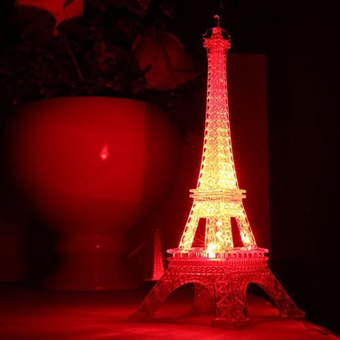 Colorful Eiffel Tower Night Lamp With Button