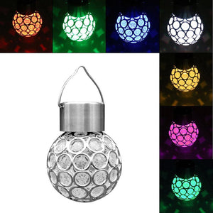 Solar Powered LED Hanging Ball Pendant Lamp