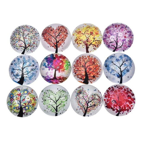 Colorful Tree Fridge Magnet Sticker(5pcs)-Non Electric Home Decor-[variant_title]-Khadiza Electricals