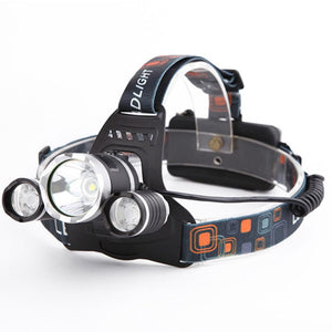 Ultra Bright 3X XM-L T6 LED Rechargeable Headlamp