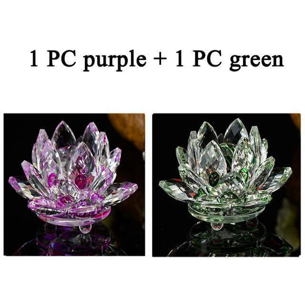 Quartz Crystal Lotus Flower Paperweight for Home Decor-Non Electric Home Decor-2 PCS 5-Khadiza Electricals