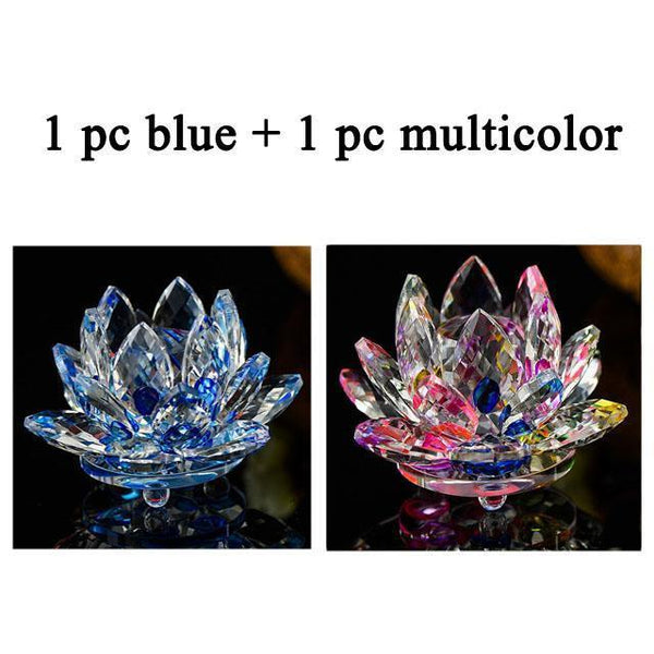 Quartz Crystal Lotus Flower Paperweight for Home Decor-Non Electric Home Decor-2 PCS 10-Khadiza Electricals