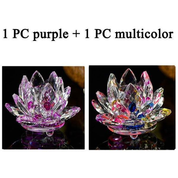 Quartz Crystal Lotus Flower Paperweight for Home Decor-Non Electric Home Decor-2 PCS 4-Khadiza Electricals