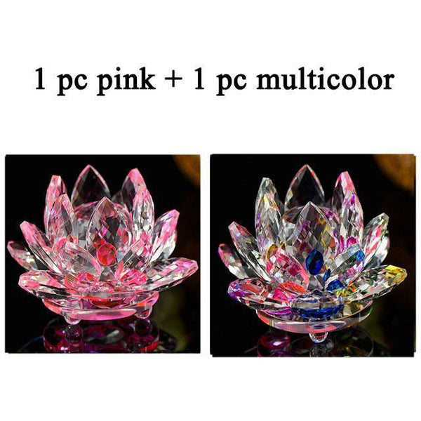 Quartz Crystal Lotus Flower Paperweight for Home Decor-Non Electric Home Decor-2 PCS 2-Khadiza Electricals