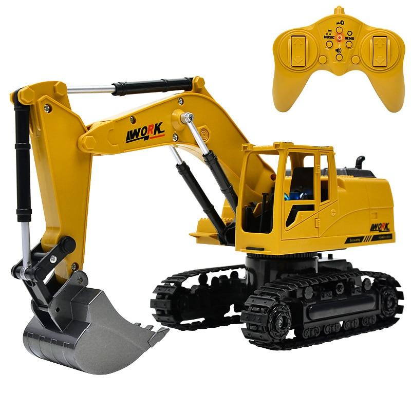 Remote Controlled excavator toys with Music and light