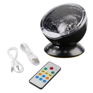 Night Lamp which creates Aurora like Illusion-Decorative Night Lamp-Black / China-Khadiza Electricals