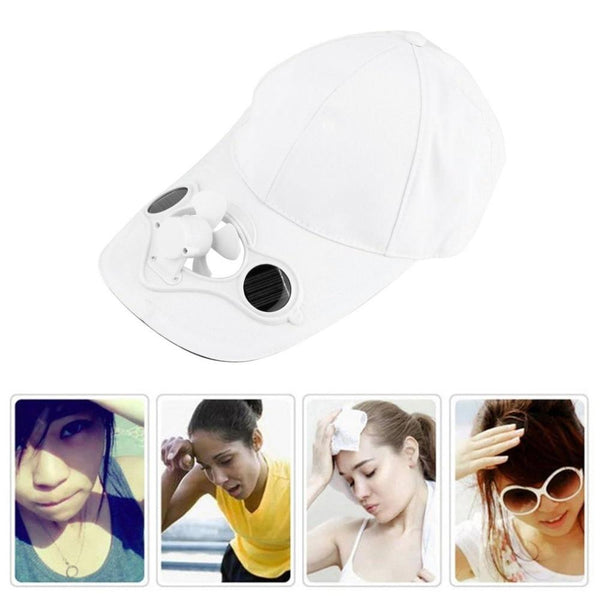 Solar Powered Air Cool Fan Cap For Outdoor-Funny But Useful-[variant_title]-Khadiza Electricals