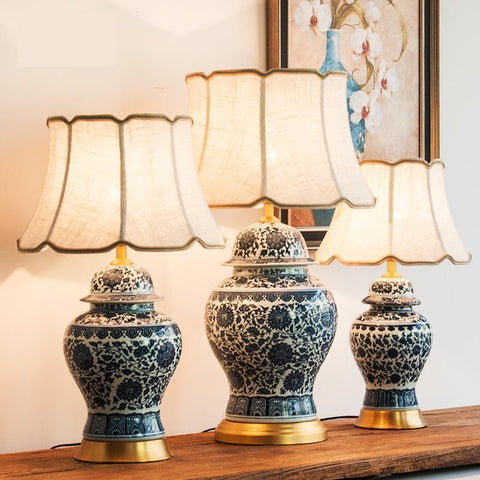 Ceramic table Lamp-Decorative Table Lamp-[variant_title]-Khadiza Electricals