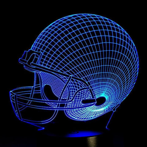Baseball Helmet  Night  Lamp With Touch Switch(3D Hologram Illusion)