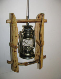 Country Style Bamboo Pendant  Kerosene Lantern(Bulb Included)