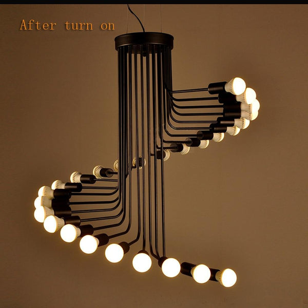 American Styled Retro Staircase Pendant Light-Decorative Pendant Lamp-26 lights-Khadiza Electricals