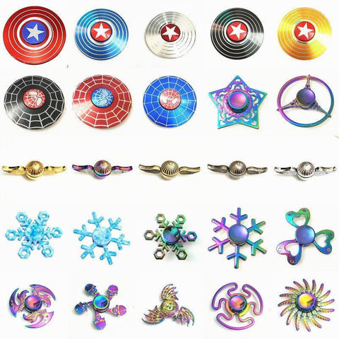 Metal Fidget Spinners (Choose from Multiple Options)