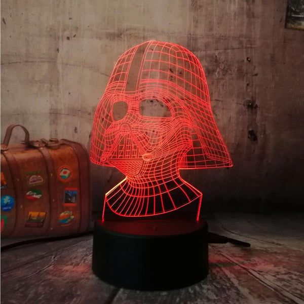 3D Illusion Led Night light (Touch sensor, USB powered,  7 colors)-Decorative Night Lamp-[variant_title]-Khadiza Electricals
