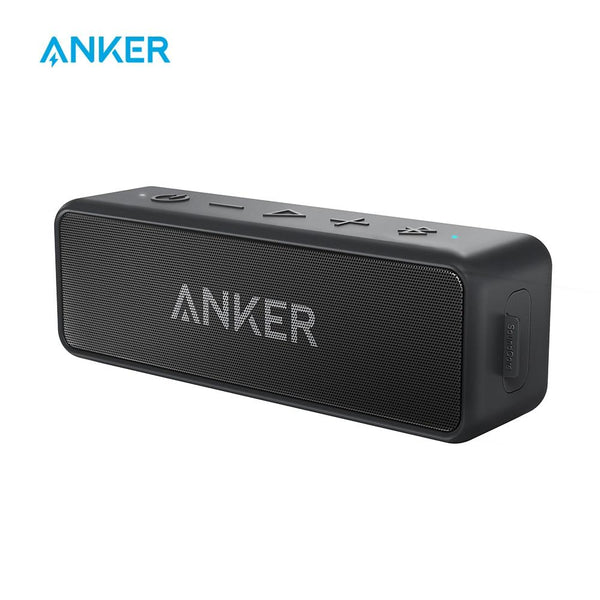 Anker SoundCore 2 Portable Bluetooth Wireless Waterproof Speaker With 24-Hour Playtime (66ft Bluetooth Range)
