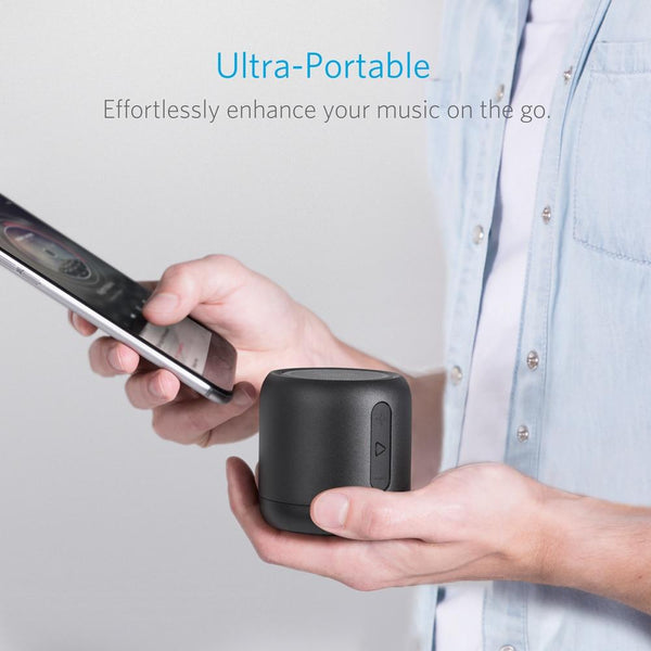 Anker SoundCore mini, Super-Portable Bluetooth Speaker with 15-Hour Playtime, 66-Foot Bluetooth Range & Enhanced Bass Microphone