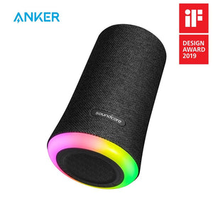 Anker Soundcore Flare Portable Bluetooth 360' Waterproof Speaker with All-Round Sound, Enhanced Bass & Ambient LED Light