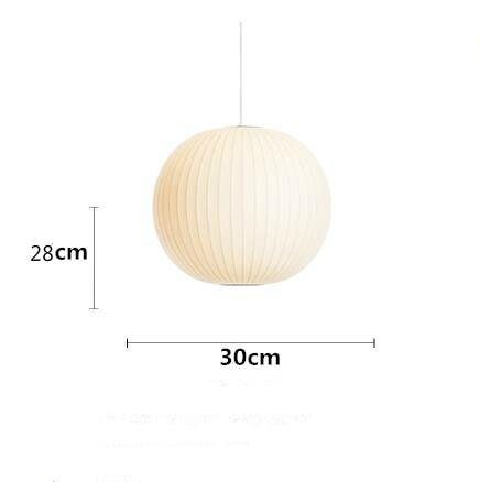 Bubble Saucer Pendant Lamp Made of  White Silk Cloth C D300mm