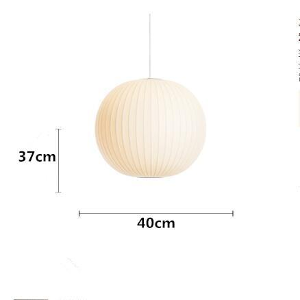 Bubble Saucer Pendant Lamp Made of  White Silk Cloth C D400mm