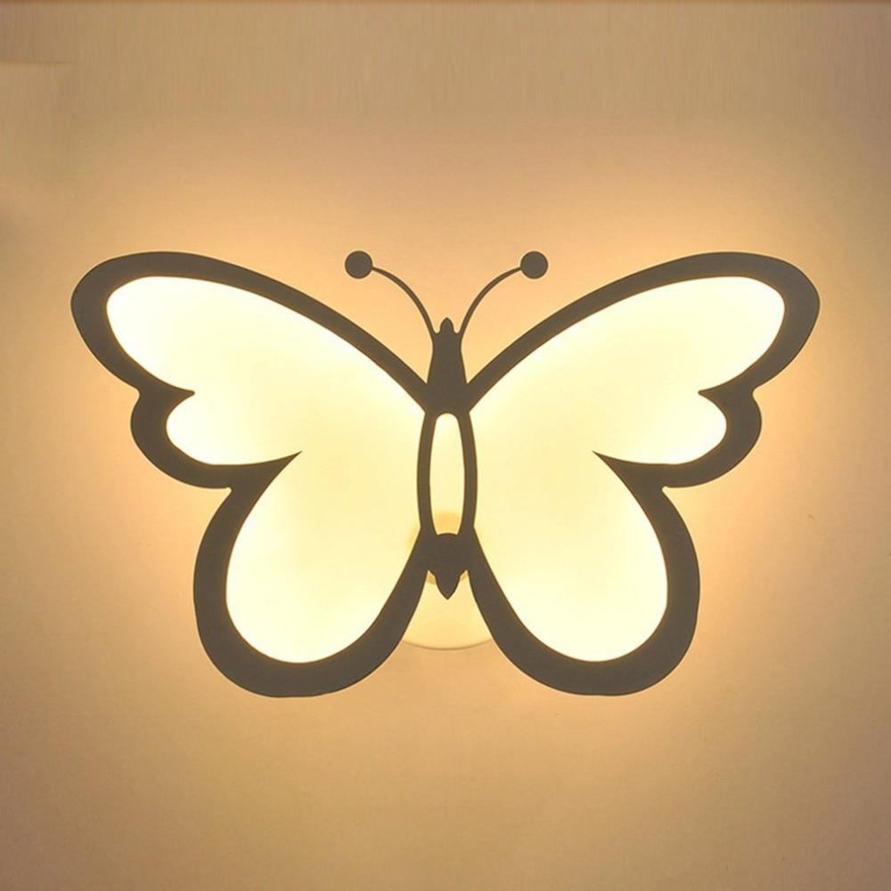 Buy Butterfly Shaped Super Bright Bedside Wall Lamp Online