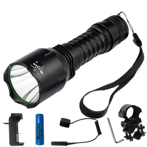 Natural Cool White LED Flashlights(10000LM, 18650 battery)-Flashlight/ Torch-E / China / Cold White Light-Khadiza Electricals