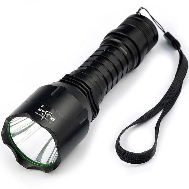 Natural Cool White LED Flashlights(10000LM, 18650 battery)-Flashlight/ Torch-A / China / Cold White Light-Khadiza Electricals