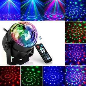 3W Sound Activated LED Disco Ball Party Lights DJ Stage Lights