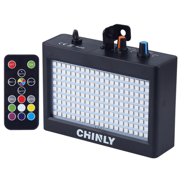 Portable Strobe Flash Light (180 LED 35W RGB)-DJ Lights & Sound-UK Plug-Khadiza Electricals