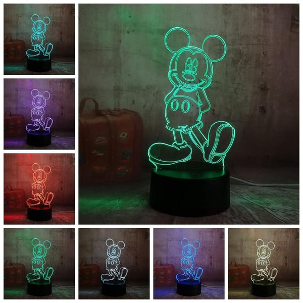3D Mickey LED Night Light-Decorative Night Lamp-[variant_title]-Khadiza Electricals