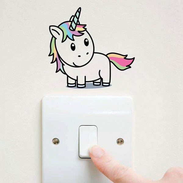 Colorful Unicorn Switch/ Wall Stickers For Kids Rooms-Non Electric Home Decor-[variant_title]-Khadiza Electricals